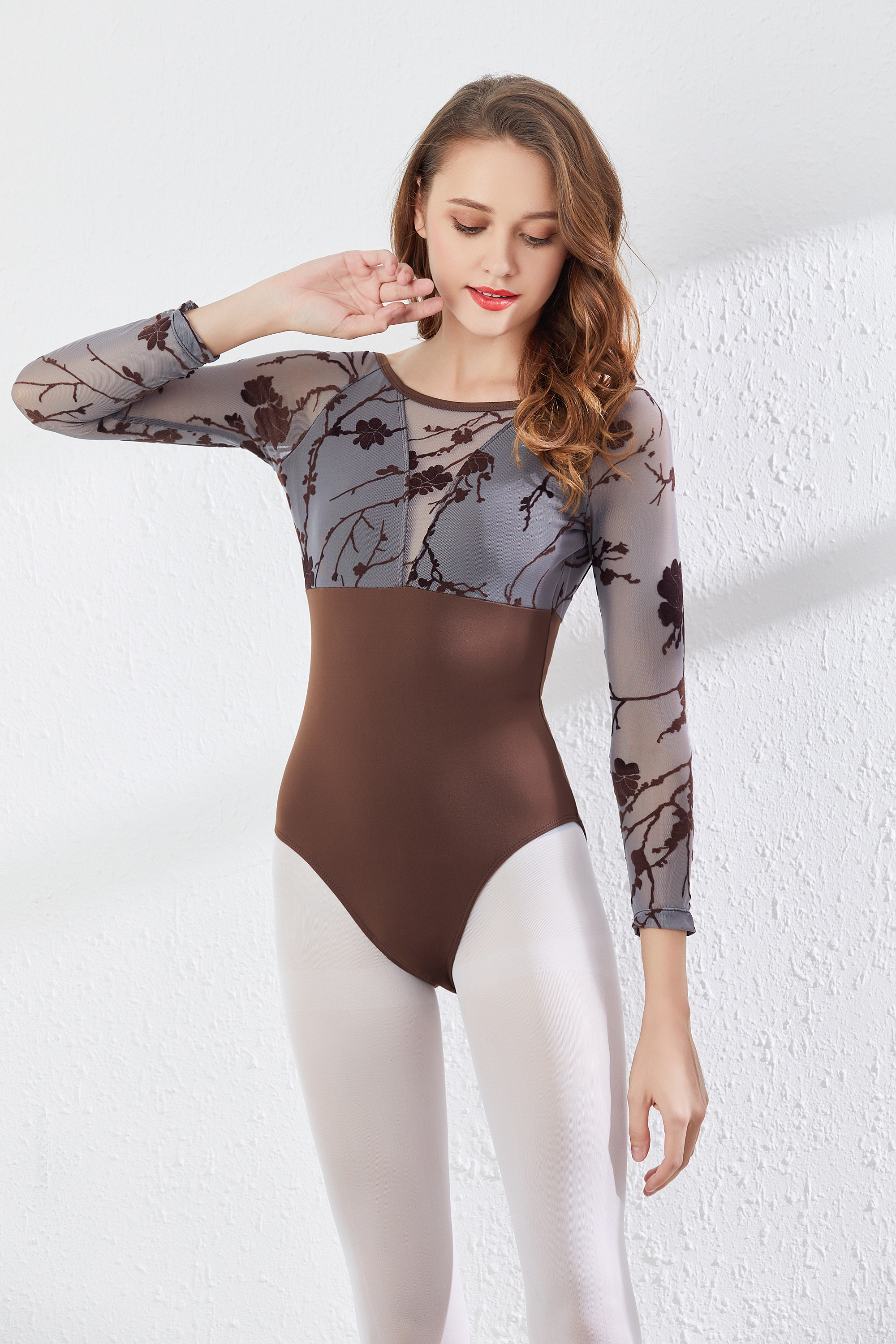 Long Sleeve Ballet Dance Leotards Women 2020 High Quality Gymnastics Dancing Coverall Adult Ballet Exercise Leotard