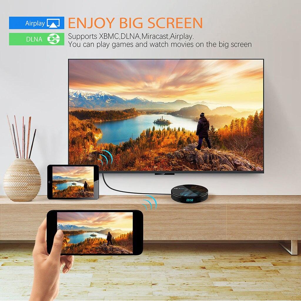 4K Smart TV BOX Android 9.0 HK1 MAX 4GB RAM 128GB ROM 64GB lecteur multimédia HK1MAX décodeur TV 2G/16G PK H96 Max 2019 nouveau - 4