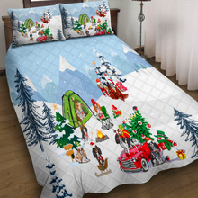Christmas 3pcs Quilt Pillowcase Bedding Set Children's Christmas Gift Throw Quilted Duvet Cover Bed Cover Set Home Textiles