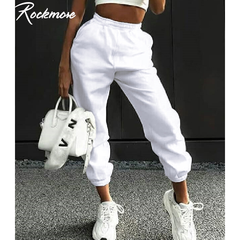 Top SaleRockmore Pant Femme Trousers Harajuku Joggers High-Waist-Pants Wide-Leg Fall Streetwear Korean