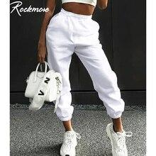 Женские свободные брюки Rockmore, уличные брюки с высокой талией в Корейском стиле, большие размеры