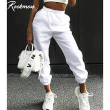 Rockmore-Spodnie dresowe z szerokimi nogawkami dla kobiet styl koreański harajuku streetwear casual spodenki z wysokim stanem plus size tanie tanio COTTON Poliester spandex Pełnej długości CN (pochodzenie) Wiosna jesień P7799 P9146 P3952 P3627 Stałe Na co dzień
