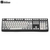 Blanc clair gris PBT blanc XDA Keycaps ANSI ISO Cherry Mx pour clavier mécanique Xd64 Xd60 Xd68 Xd84 Xd96 Planck 87 104 Tkl