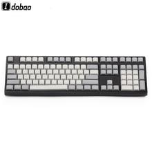 Işık beyaz gri PBT boş XDA Keycaps ANSI ISO kiraz Mx mekanik klavye için Xd64 Xd60 Xd68 Xd84 Xd96 Planck 87 104 Tkl