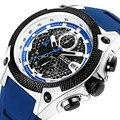 MEGIR мужские часы с силиконовым ремешком лучший бренд класса люкс водонепроницаемый спортивный хронограф кварцевые наручные часы для делов...