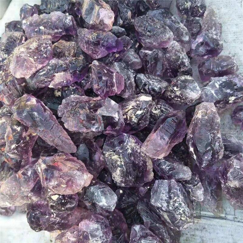 1 pc, 80g-100g cristal naturel brut Quartz graviers améthyste cristal pierres dégringolées baguette pour 7 Chakra guérison - 6