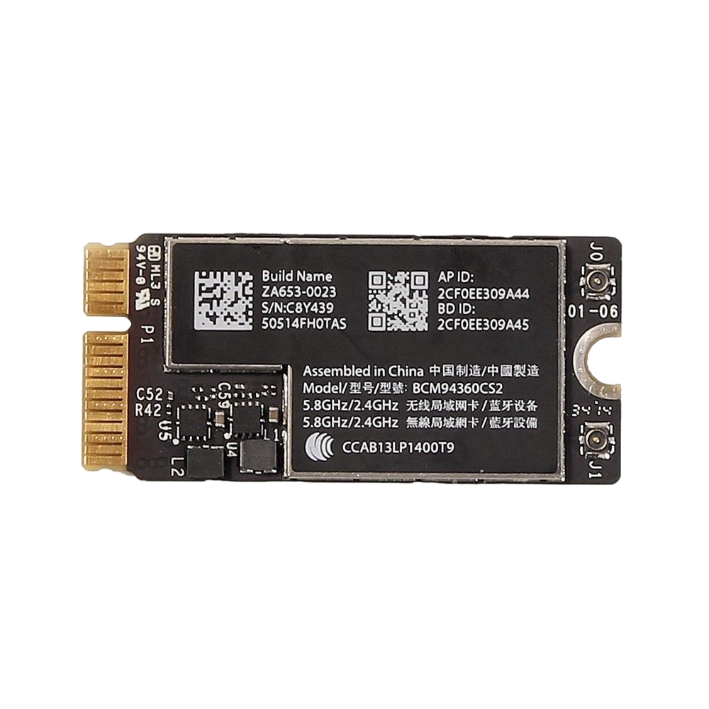 HOT-Wifi Bluetooth AirPort Card Bcm94360Cs2 For Macbook Air A1465 A1466 Md711 Md760
