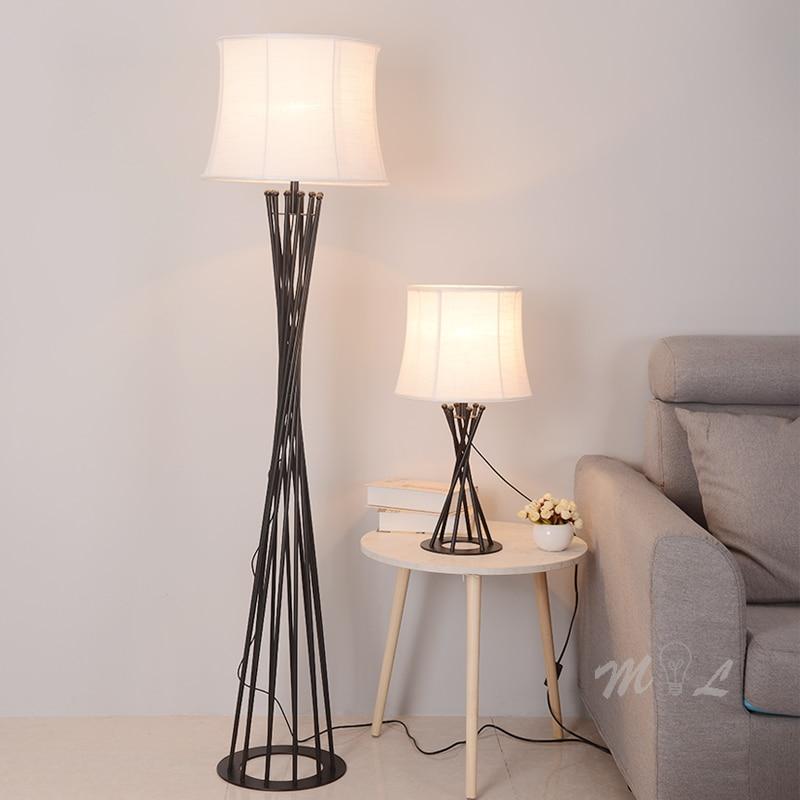 Iron Tower Floor Lamp Bedroom Fixtures