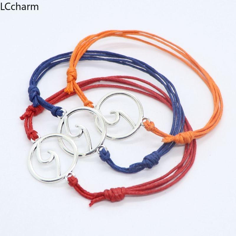 10pcs Simple Ocean Waves Beach Adjustable Bracelets For Women String Braided Bracelet Unisex Men Fashion Jewelry