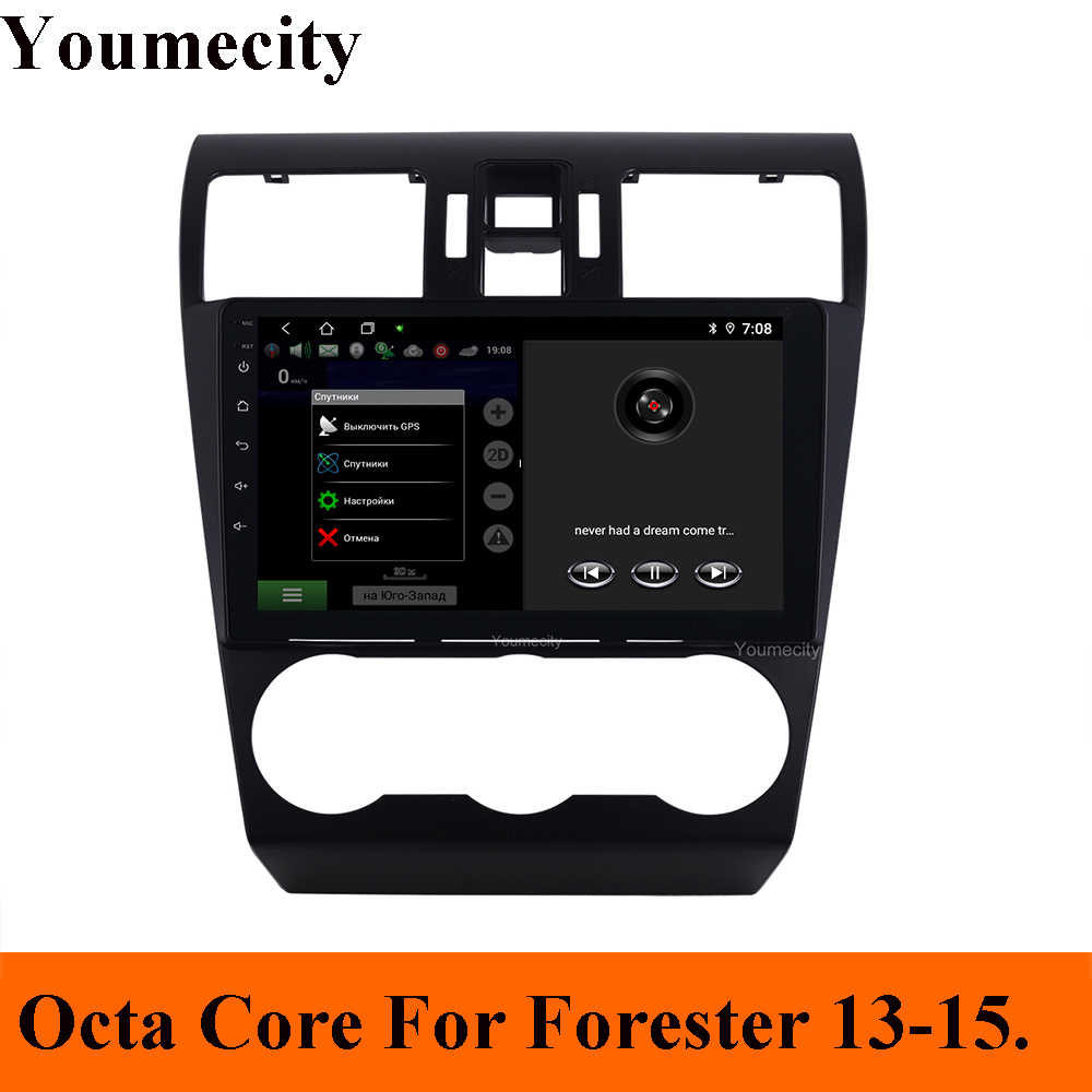 Android 9.0 Car DVD for Subaru Forester Impreza WRX 2013-2015 3G/4G GPS radio video Multimedia player Capacitive IPS Screen