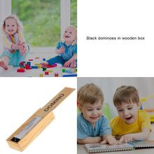 Toys For Boys Wooden Box Black Domino Wooden Board Game Child-parent Travel Game Early Develop Toys Intelligence Education