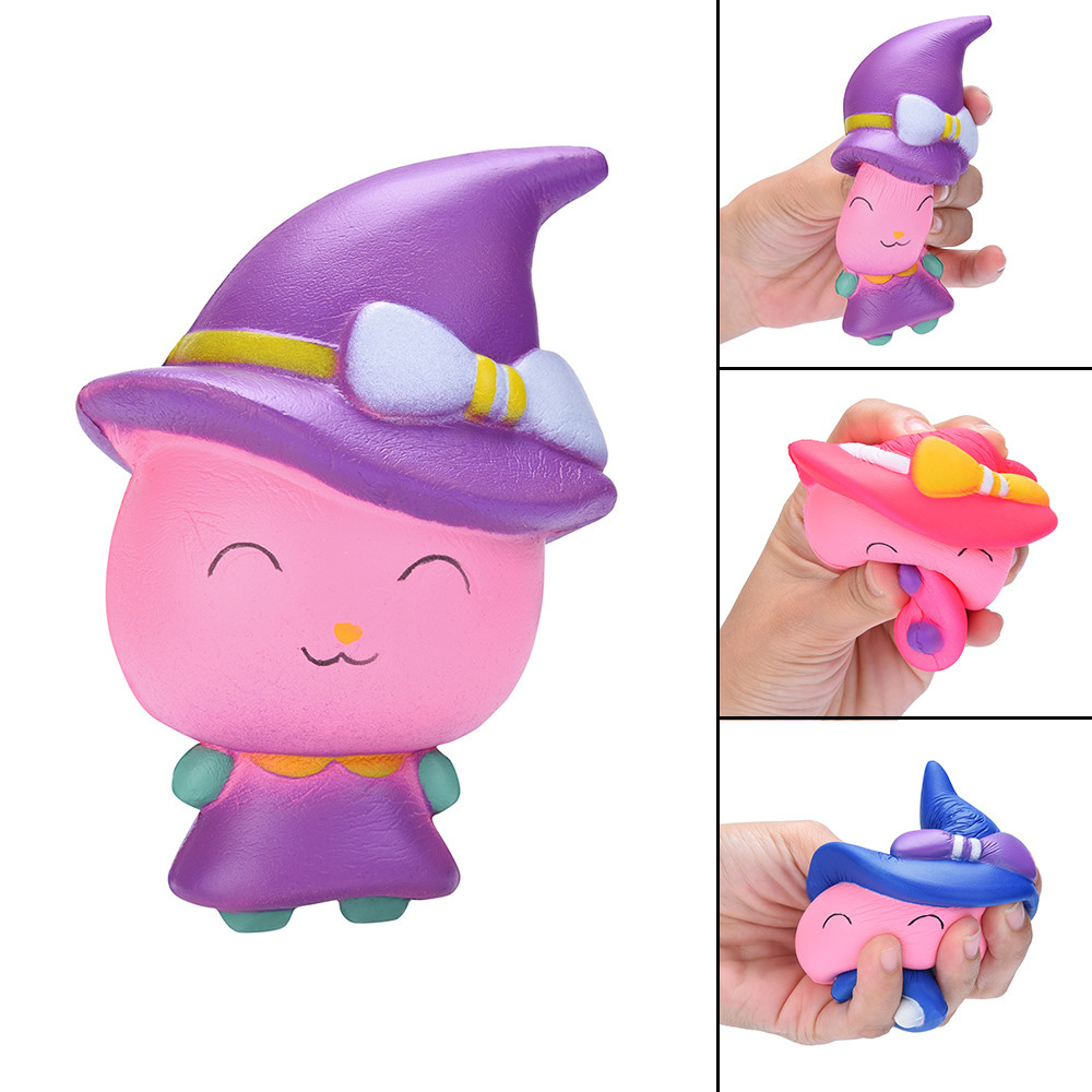 Kid Speelgoed Collectie Verlichten Anxiet Gift Cute Witch Magic Girl Squeeze Toy Slow Rising Scented Stress Reliever Toy L113