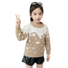 Teenage Sweater for Girl Long Sleeve Knitted Pullover Knitwear Sweaters Children Fashion Fall Winter Baby Girl Knitted Tops
