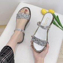 2020 Women Summer Flat Bling Slippers Fashion Beach Sandals Female Casual Outdoo