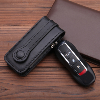 Genuine Leather Key Cover Fit For Porsche Cayenne Macan Panameras Cayman 911 10