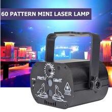 Usb Перезаряжаемый rgb сценический светильник 60 узоров светодиодный