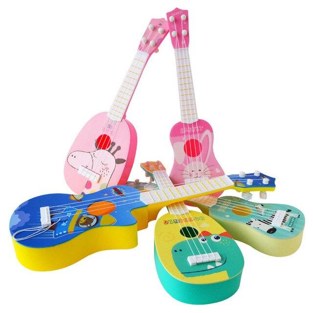 1pc Kids Funny Ukulele Musical Instruments Kids Guitar Montessori Toys for Children School Play Games Education Boys Girls 3