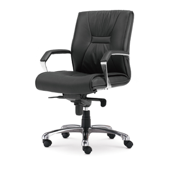 Black soft leather computer armrest chair ergonomic middle backrest boss chair executive chair for office Company giantex pu leather ergonomic office chair armchair executive chair boss lift chair swivel chair office furniture hw50391
