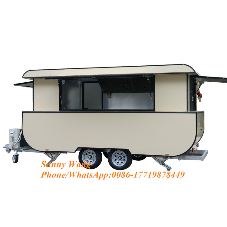 Factory Price Street Mobile Fast Bbq Truck Food Van Mobile Food Cart Trailer With Logo Design