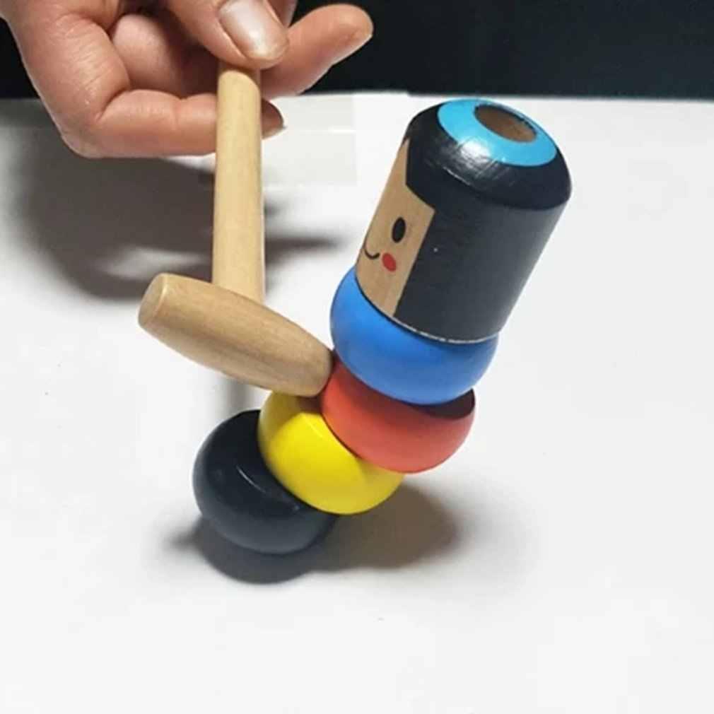 2019 الإبداعية غريبة لعبة سحرية لا عوائد الشرير الصغير رجل خشبي ابتسامة الوجه لعبة الدمى متعة لعبة الدمى الأطفال ألعاب غريبة