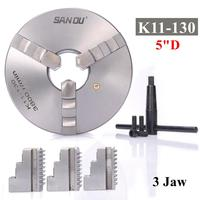 3 Jaw Lathe Scroll Chuck Self Centering Hardened For South Bend Tools K11 130 with key