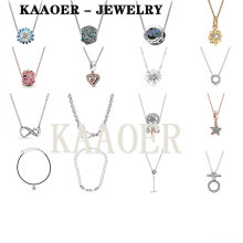 KAAOER 2020 NEW S925 popular Symbol Daisy ocean Garden shell leather rope red lip love confession string charm necklace female image