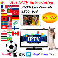 Français IPTV M3u Smarters pour Smart Androd tv box arabe royaume-uni allemagne états-unis IPTV abonnement H265 m3u Enigmas2 Smart tv
