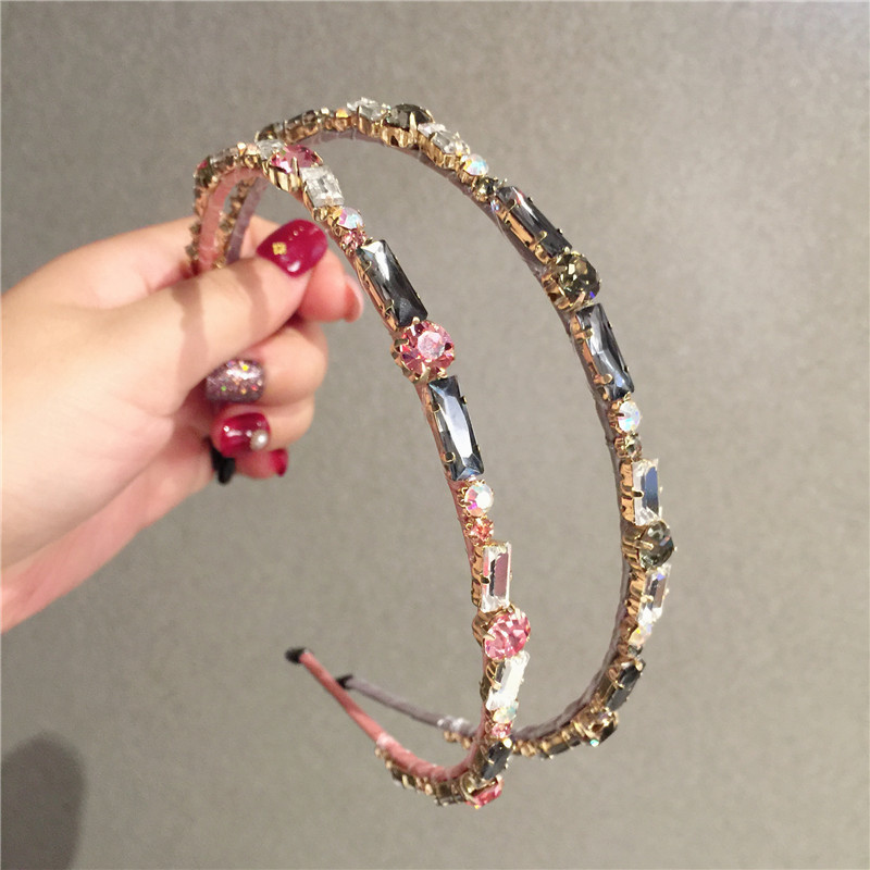 Rhinestone Crystal Baroque Hairbands For Women Hair Accessories Korea Headband For Girls  Crown Flower Headbands Head Wrap