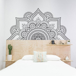 Half Mandala Headboard Decals