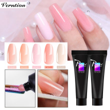 Verntion Color Polygel Semi Solid Transparent Color French Nails Extension Uv Camouflage Hard Jelly Fast Builder Stand Polygel(China)