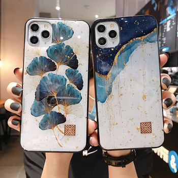 Chic Marble Gold Foil Phone Cases for iPhone 12 11 Pro Max XR X 8 7 6 Plus Glitter Soft Silicone Cover for iPhone XS Max SE 2020 1