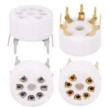 5 sztuk ceramiczne gniazdo lampy płytka drukowana, 7 pinów, lampa elektronowa siedzenia dla EC92 6J1 6J4 6J5 6Z4 6X4 6A2 6H2 1A2 wzmacniacz lampy elektronowej DIY