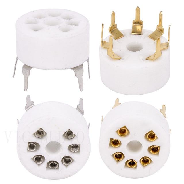 Tubo de cerámica PCB para coche, 5 uds., asiento de tubo electrónico de 7 pines para EC92 6J1 6J4 6J5 6Z4 6X4 6A2 6H2 1A2, amplificador de tubo de vacío DIY