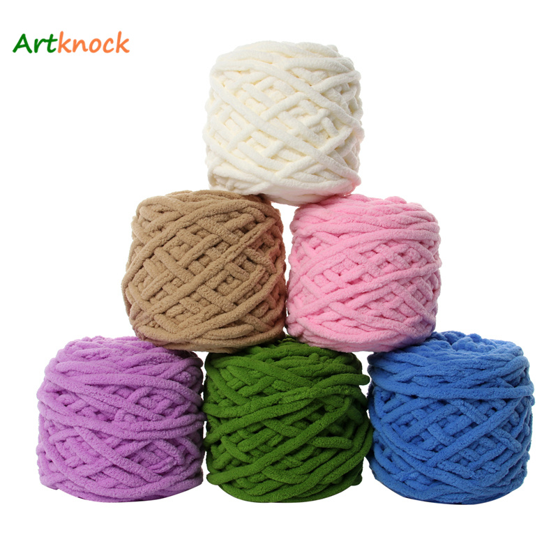 100g Knit Crochet Super thick Single strand chenille cashmere soft Milk yarn