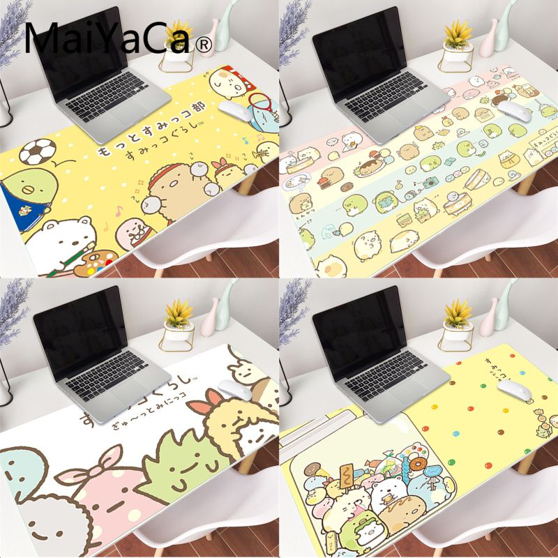 MaiYaCa 70x30cm Japanese Kawaii Wallpaper Laptop Gaming Mouse Pad Large Locking Edge Keyboard 80x40cm Deak Mat For Kid Students