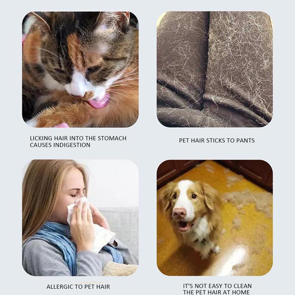 Pet Hair Roller Remover Lint Brush 2-Way Dog Cat Comb Cat Furniture Fur Clothe Convenient Sofa Cleaning Tool Brush Base Dog M4J5