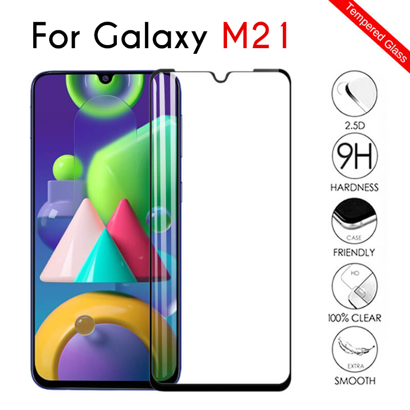9D Screen Protector for Samsung M21 Glass for Samsung Galaxy M21 Cover Tempered Glass  SM-M215F M215 M215F Phone Full Cover M 21