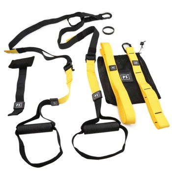 Stretchable Resistance Bands with Height Adjustable Elastic Straps and Handle for Workout and Exercise