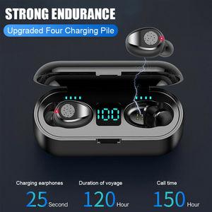 Image 5 - Drahtlose Kopfhörer Bluetooth V 5,0 F9 TWS Drahtlose Bluetooth Kopfhörer LED Display Mit 2200mAh Power Bank Headset Mit Mikrofon