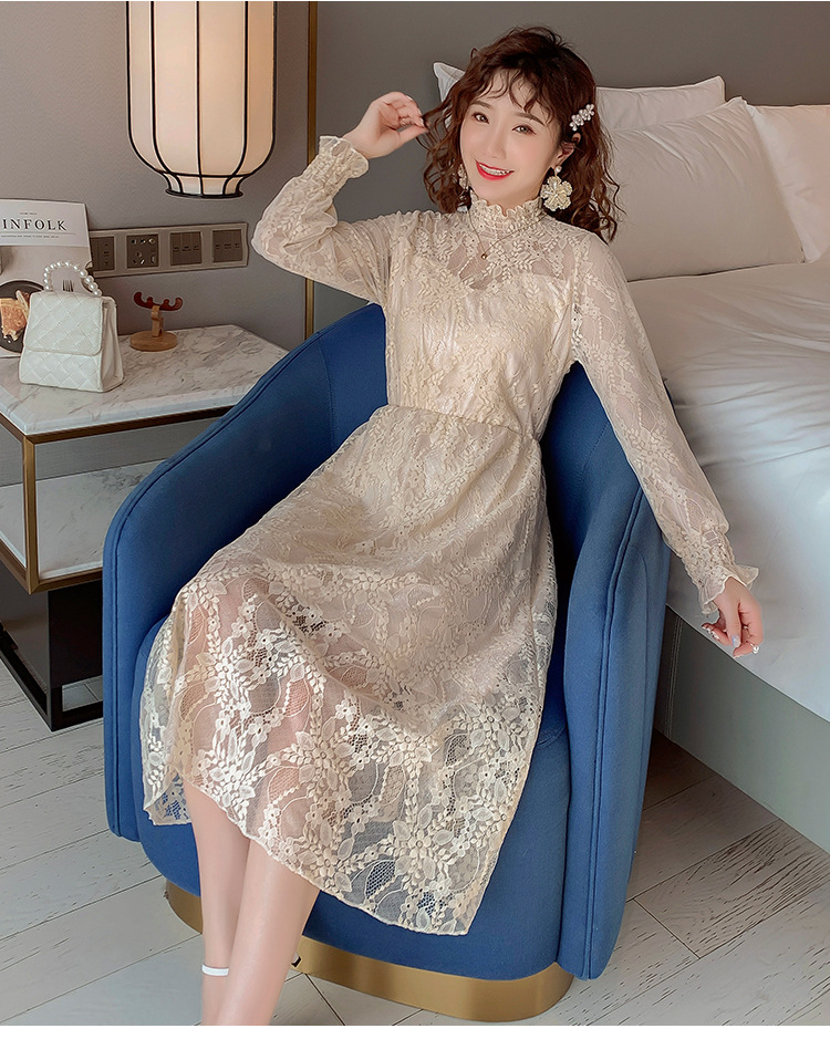 2020 Maternity clothing summer twinset lace maternity one-piece dress white embroidery maternity dress For Pregnant (17)