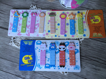 1pack/Lot Happy Every Day Love Clover Kawaii And Cute Beautiful Snowflake Paste Bookmark Notes image