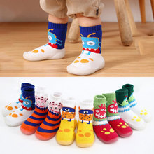 Newborn shoes new baby toddler indoor floor sock shoes  baby non-slip walking shoes baby boy soft rubber bottom booties