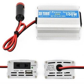 Inversor de corriente para ordenador portátil de 100W para coche y hogar DC 12V/24V a AC 220V convertidor de potencia B36B