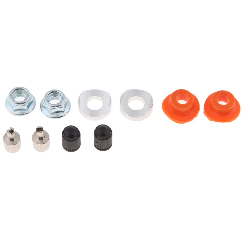 Universal Rim Lock <font><b>Nut</b></font> Spacer Valve <font><b>Stem</b></font> Seal Set For Motorcycle Dirt <font><b>Bike</b></font> image