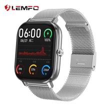 LEMFO reloj inteligente DT35 PPG ECG smart watch Llamada Bluetooth Monitor de ritmo cardíaco de 24 horas para Android Apple GTS