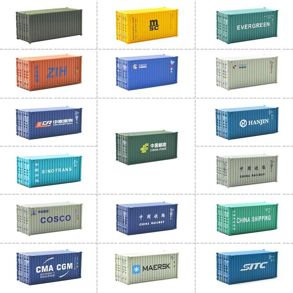 HO scale Model Train Accessories 20ft shipping freight container Scale 1: 87 train model railway out