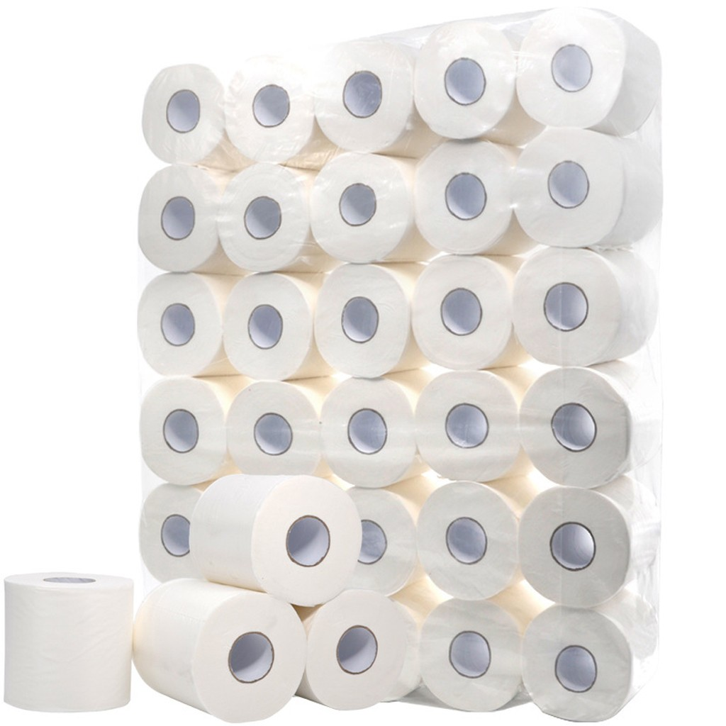 Hollow Replacement Roll Paper Print Interesting Toilet Paper Table Kitchen Paper Paper Towels, Soft Toilet Paper, White Toilet P