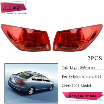 ZUK Pair Taillight Taillamp Sub-assy For NISSAN Bluebird Sylphy Almera G11 2006-2008 Rear Bumper Tail Light Tail Lamp