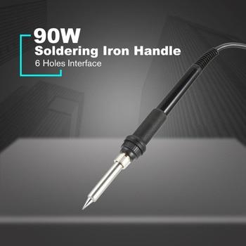 90w electronic soldering iron heated pvc handle welding tool solder 6 holes rework repairing tool
