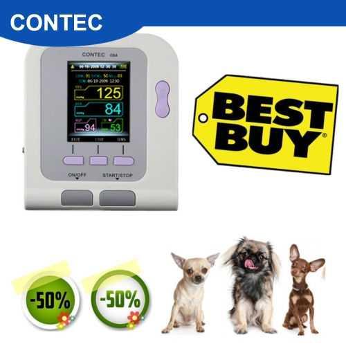 수의사 수의학, oled 디지털 혈압 및 심장 박동 모니터 nibp contec08a